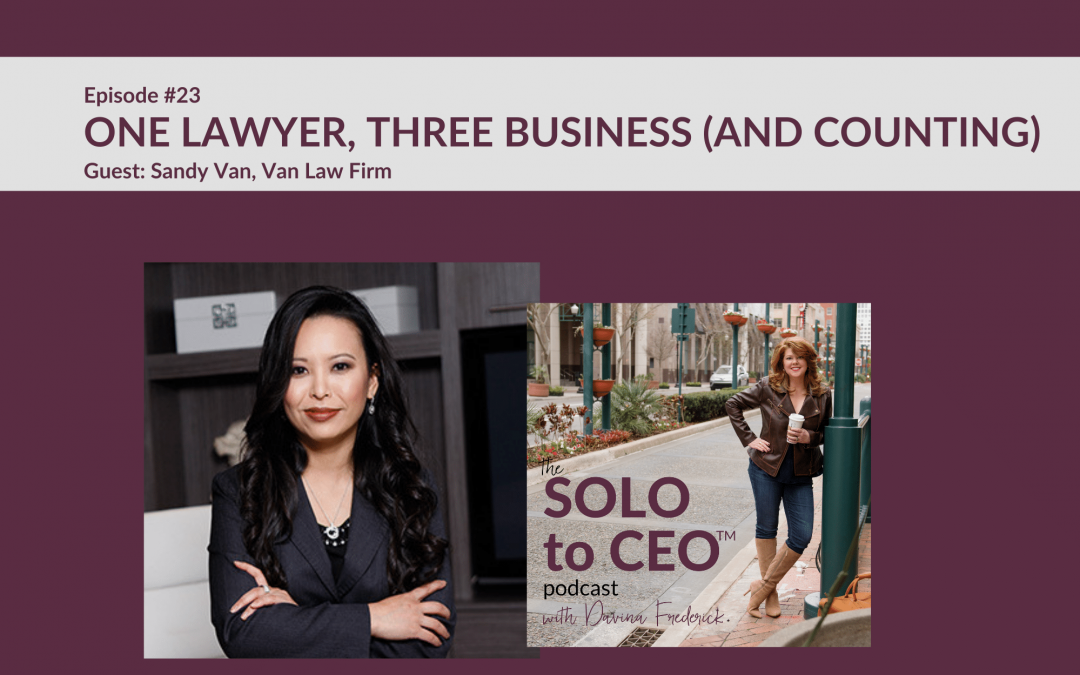 Sandy Van   One Lawyer, Three Businesses (and Counting)